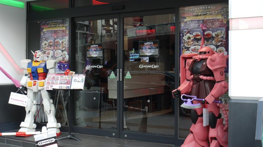 Αποτέλεσμα εικόνας για akihabara Café Gundam entrance